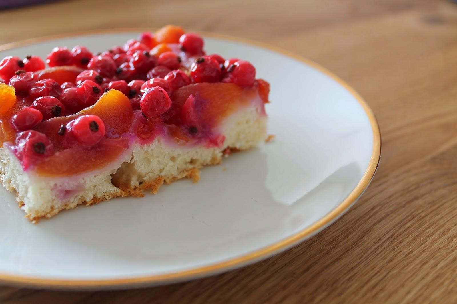 Leckerer Aprikosen Johannisbeer Kuchen Münchner Küche