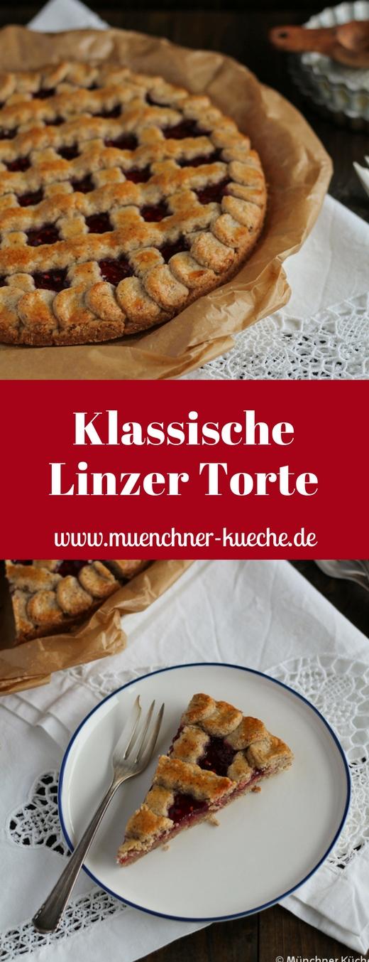 Die Linzer Torte ist einer der Klassiker. www.muenchner-kueche.de #kuchen #linzer #torte