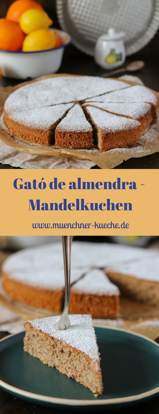 Der super saftige Mandelkuchen kommt ganz ohne Mehl zurecht. In Spanien nennt man ihn Gató de almendra. | www.muenchner-kueche.de #mandeln #kuchen #spanien #ohnemehl