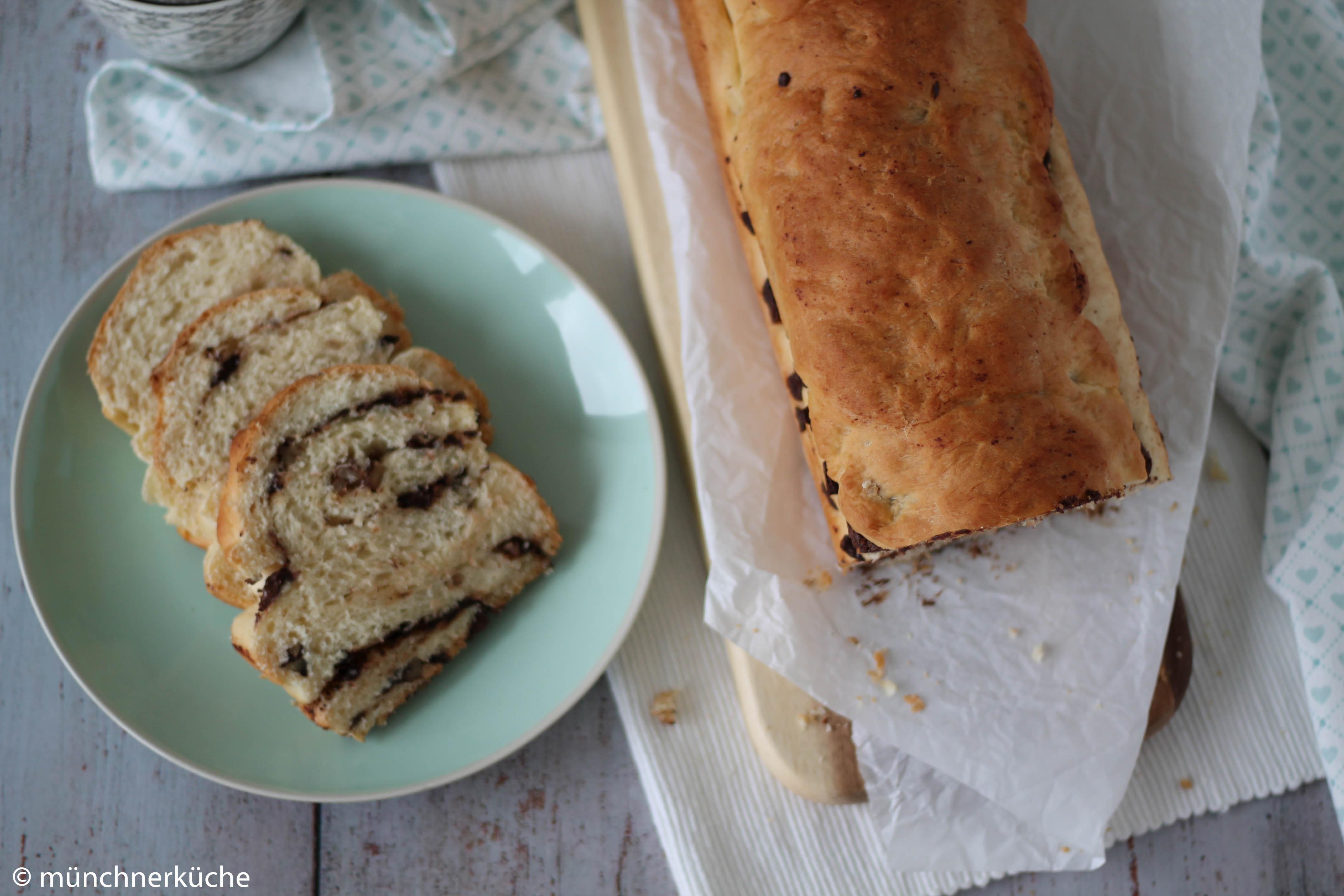 Schokoladen-Pekanuss-Brot