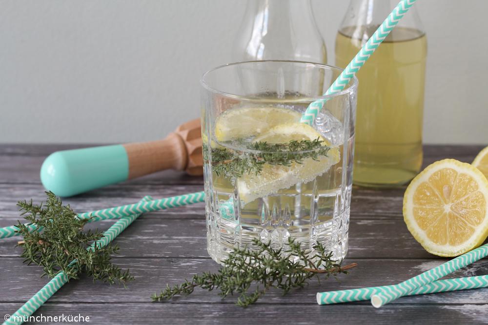 Zitronen Thymian Sirup