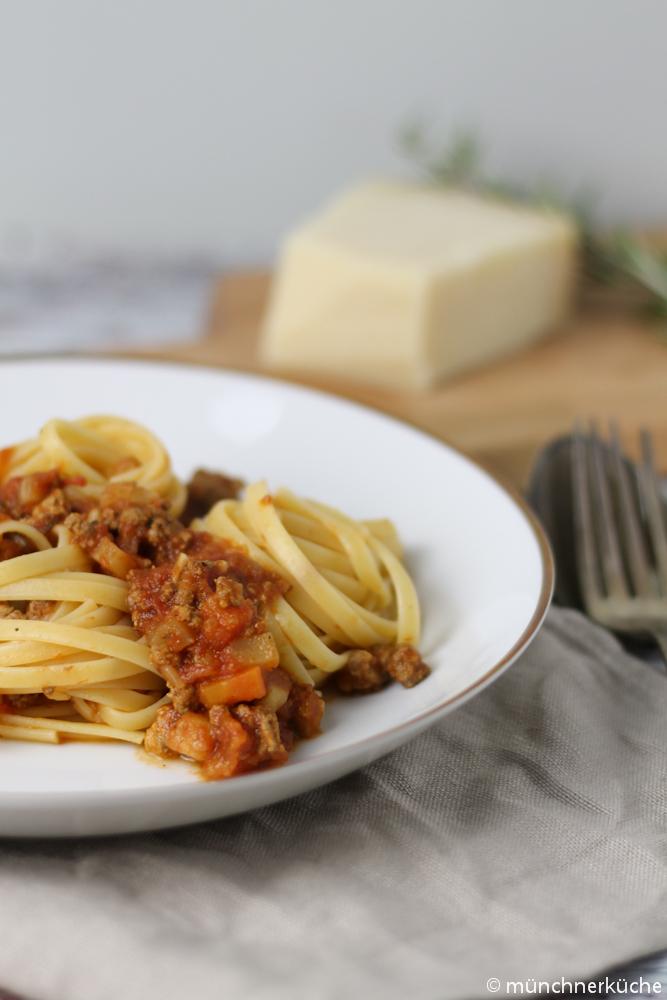 Ein Teller von der tollen Bolognese ist pures Soulfood.