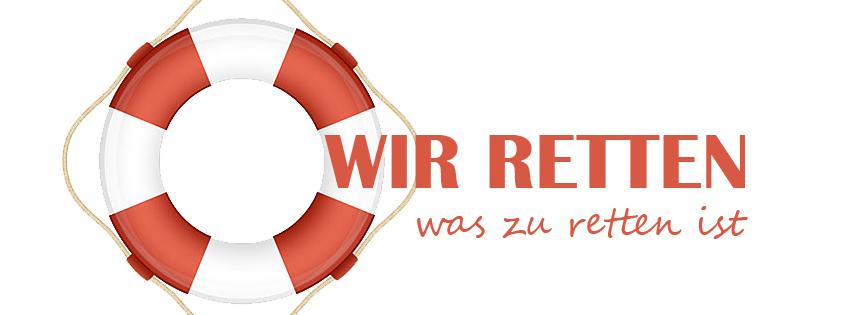 Logo der Wir retten was zu retten ist Gruppe.
