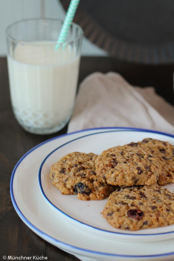 Für ein paar Cookies mit Schokolade und Cranberries ist immer Platz.