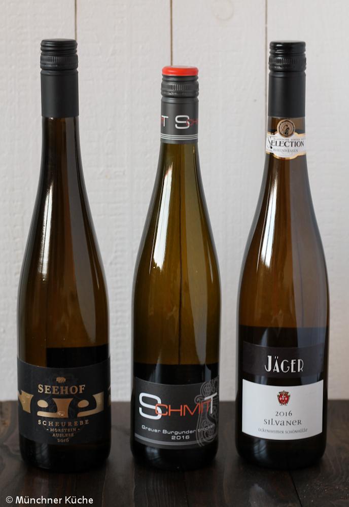 Diese drei Weißweine befanden sich in meinem Paket für das Rheinhessen Roulette.