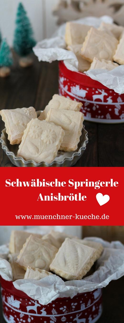 Die Springerle sind in Süddeutschland ein bekanntes Weihnachtsgebäck. Die Bilder kommen durch ein Holz-Model auf die Plätzchen | www.muenchner-kueche.de #springerle #plätzchen #weihnachten