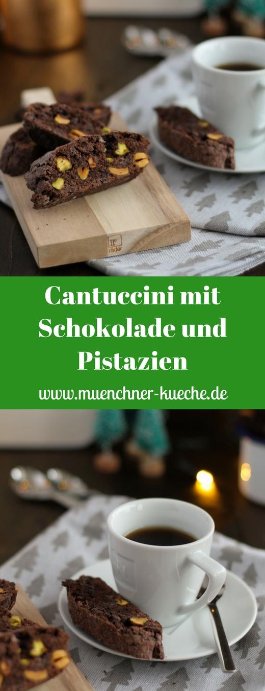 Lassen sich auch schön verschenken: Cantuccini mit Schokolade und Pistazien. www.muenchner-kueche.de #cantucchini #schokolade #pistazien