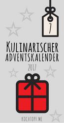 Banner für den kulinarischen Adventskalender von kochtopf.me