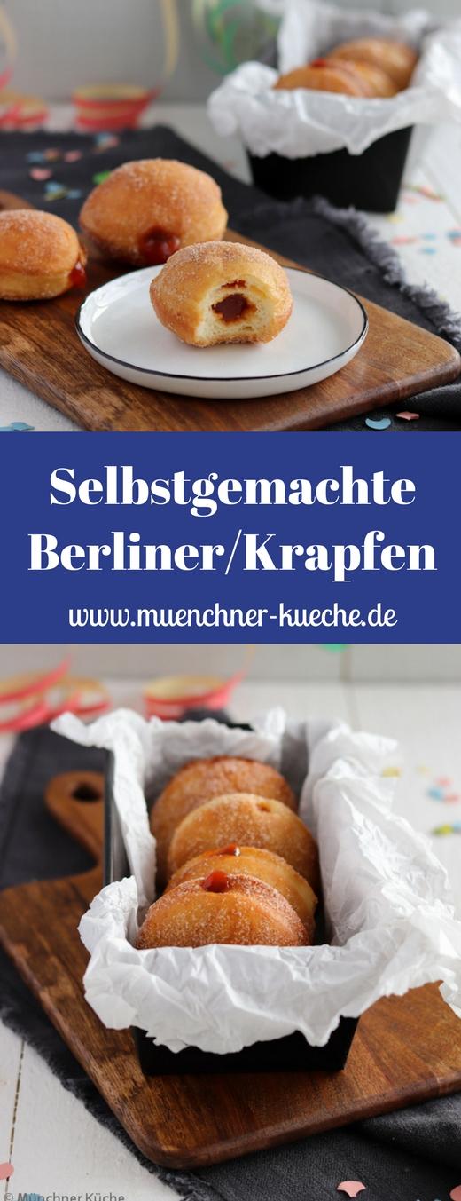 Krapfen, Berliner, Kreppel oder Pfannkuchen. Jeder nennt das mit Marmelade gefüllte Schmalzgebäck änders. Doch zu Karneval oder Fasching kommt es überall auf den Tisch. | www.muenchner-kueche.de #krapfen #berliner #kreppel #schmalzgebaeck #karneval #fasching