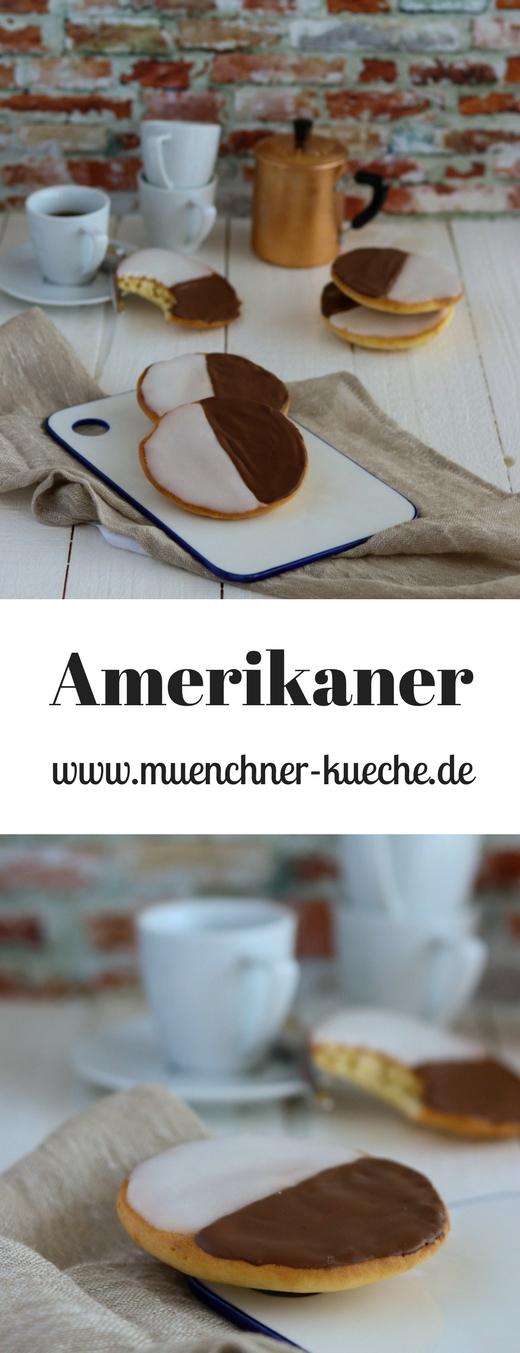 Schmecken wie vom Bäcker: Amerikaner mit Zucker- und Schokoladenguss. | www.muenchner-kueche.de #amerikaner #gebäck #schokolade