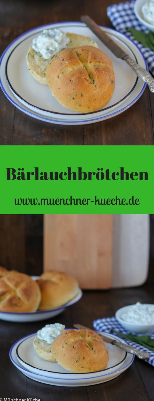 Während der Bärlauchsaison sollten frisch gebackene Bärlauchbrötchen auf keinen Fall fehlen. | www.muenchner-kueche.de #bärlauch #brötchen #hefeteig