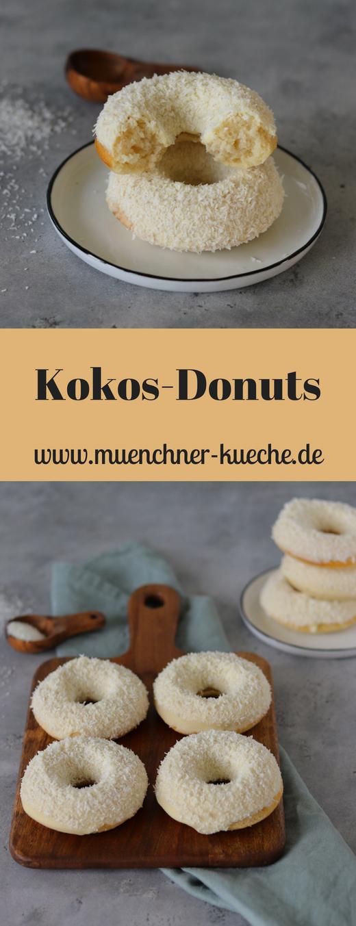Die Kokos Donuts aus dem Backofen sind genau das richtige um den Sommer einzuläuten oder ihn gebührend zu feiern. Karibik Feeling pur. | www.muenchner-kueche.de #kokos #donuts #doughnats