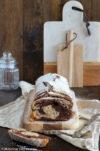 Saftiger Schokoladen-Nuss-Kuchen in Marmorkuchenoptik. Gebacken in der Königskuchenform.