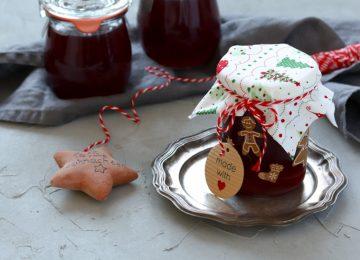 Hübsch verpackt ein tolles Geschenk: das Trauben-Ingwer-Gelee.