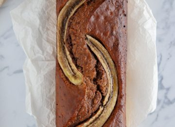 Feines Schokoladen Bananen Brot.