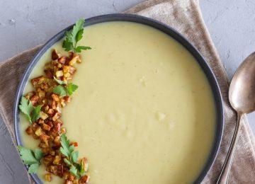 Kartoffel-Meerrettich-Suppe mit Einlage