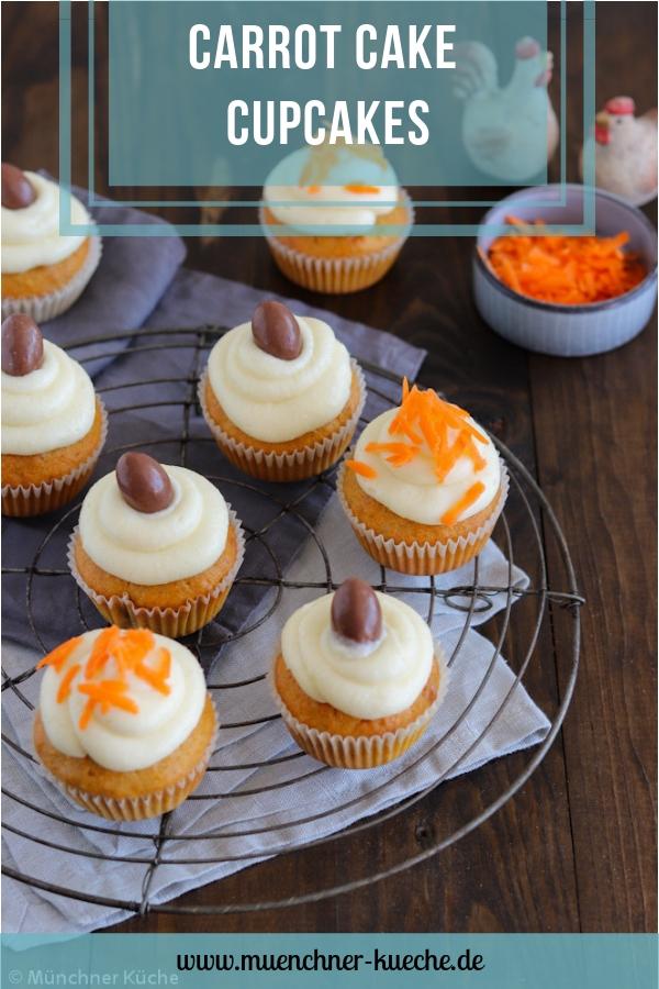Saftige Carrot Cake Cupcakes. | www.muenchner-kueche.de #carrotcake #karrottenkuchen #cupcakes #ostern