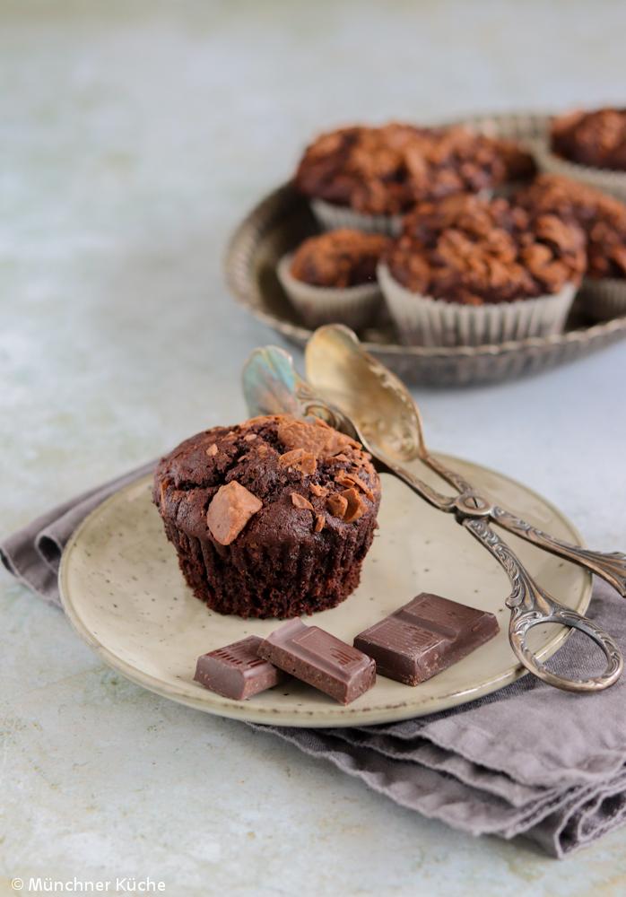 Saftige Schokoladenmuffins.