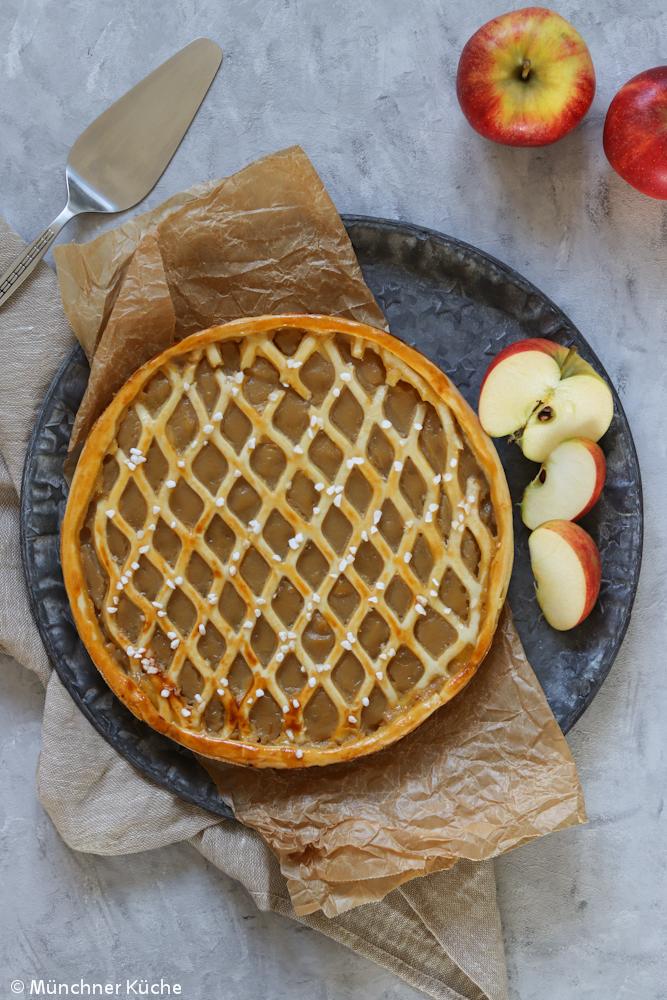 Apfelriemchen. Rheinischer Apfelkuchen.