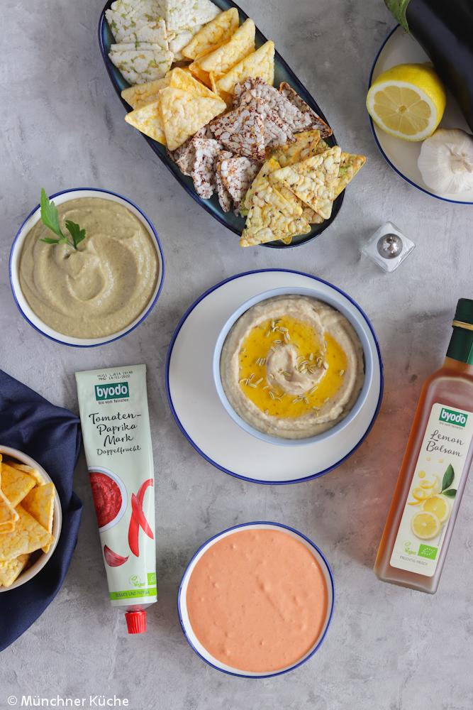 Köstliche Dips für das Picknick oder zum Grillen.