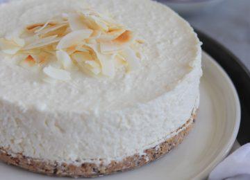 No Bake Kokos Cheesecake.