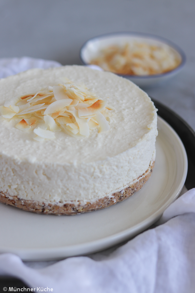No Bake Kokos Cheesecake.