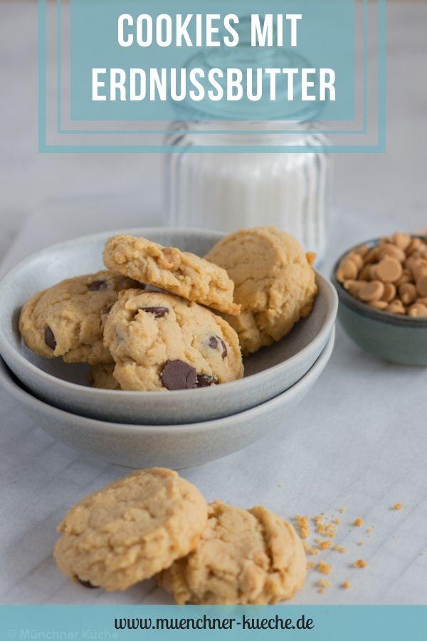 Die Kekse mit Erdnussbutter lassen sich in einer Dose gut aufheben. Peanut Butter Cookies. | www.muenchner-kueche.de #kekse #cookies #erdnussbutter #peanutbutter #gebäck #schokolade