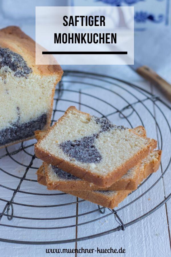 Der saftige Mohnkuchen ist ein guter Alltime Klassiker. Ein schneller Rührkuchen und so lecker im Geschmack. | www-muenchner-kueche.de #mohnkuchen #kastenkuchen #rührkuchen #mohn #saftig #münchnerküche