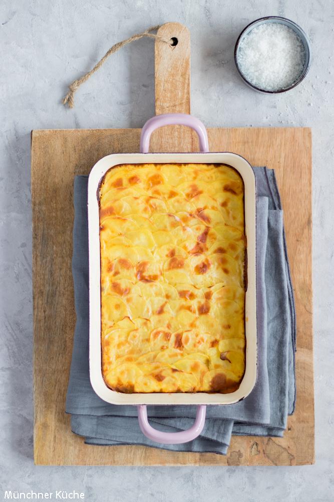 Klassisches Kartoffelgratin - cremig lecker und butterzart