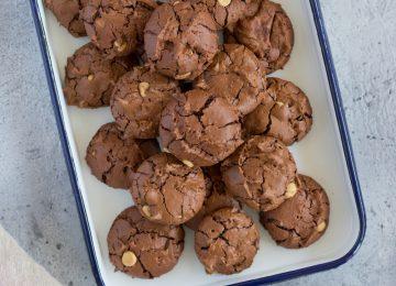 Schokoladen Brownie Cookies
