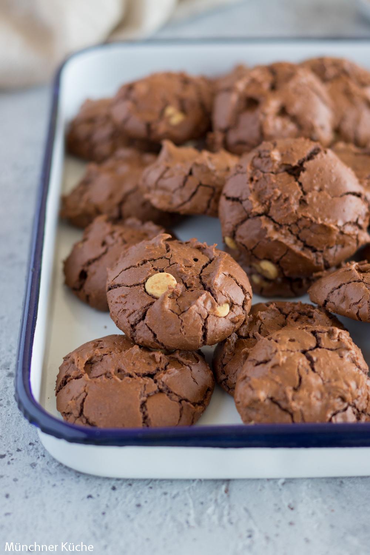 Köstliche Schoko Kekse aka Schokoladen Brownie Cookies